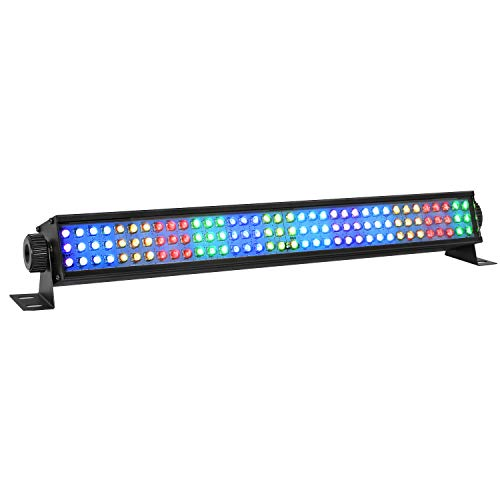 LED Wash Lights, YeeSite 20'' 25W 108LEDs RGB Stage Wash Lights Bar by DMX Control Uplights for Church Wedding Stage Lighting Party Lights ()