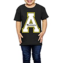 TAYC Appalachian State University Unisex Children Short-Sleeve Shirts Black