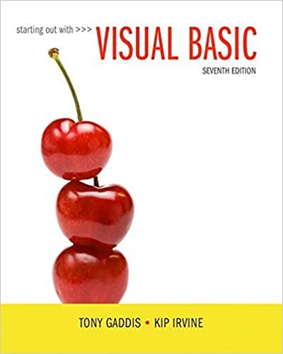 Starting Out With Visual Basic (7th Edition) by Tony Gaddis (2016-02-26)