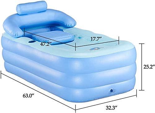 大人のスパW/電動エアーポンプとクッションのための特大肥厚インフレータブルポータブルバスタブアダルトPVC折り畳み式の自立バスタブ