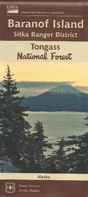 Baranof Island, Sitka Ranger District Map, Tongass National Forest, Alaska Baranof Island