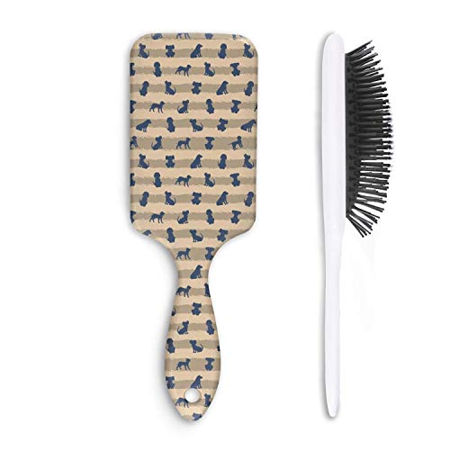 Wet And Dry hand drawn dogs breed welsh (2) Beauty Professional Boar Bristle Paddle Hairbrush For Women And Men Grooming Styling & Shaping ()