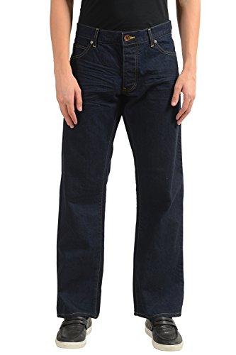 ARMANI JEANS AJ Men's Regular Fit Dark Blue Straight Leg Jeans US 38 IT 54 (Armani Jeans Straight Leg Jeans)