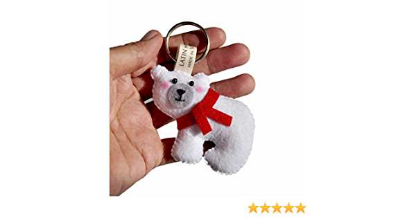 christmas ornaments Felt Keychain by Latin Handmade handmade keychain Little Star Keychain