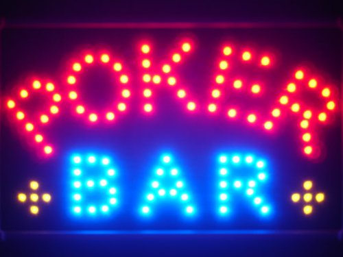 ADV PRO led076-r Poker Casino sala de Bar LED Neon Sign ...