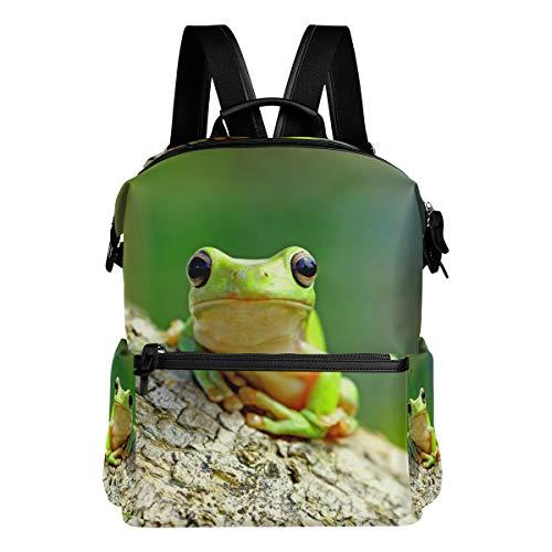 ALAZA Dumpy Frog Tree Large Backpack Multi-Pocket School Bag Large Travel Daypack ()
