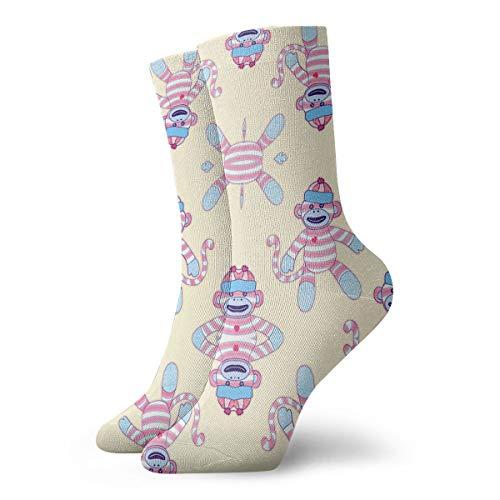 HUSJHD Interesting Socks Happy Monkey Women Girl -