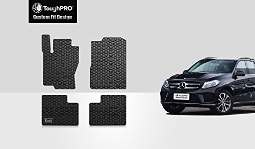 - ToughPRO Floor Mats Set (Front Row + 2nd Row) Compatible with Mercedes-Benz GLE - All Weather - Heavy Duty - (Made in USA) - Black Rubber - 2016, 2017, 2018, 2019