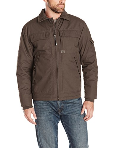 Wrangler RIGGS WORKWEAR Men's Ranger Jacket, Dark Brown, Large ()