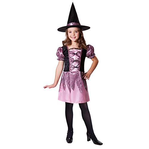 Pink Sparkle Witch Costumes (Totally Ghoul sparkle witch costume, size: Girl's Large)