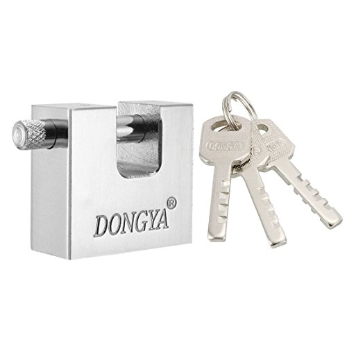 Shackles Straight Type (uxcell 42mm Body Width Steel Padlock Straight Shackle Chrome Finish, Keyed Different)