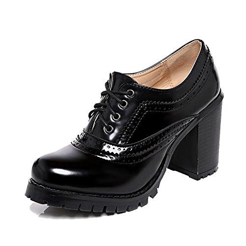 Bottes Talon Richelieu sendit4me Style Chaussures Noir Bloc pg4n6xq