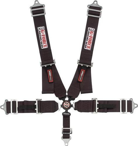 G-force Harness - G-Force 7000BK Black SFI 16.1 Rated 5-Point Pull-Down Camlock Individual Shoulder Harness Set
