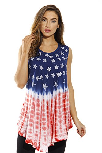 21718-2X Riviera Sun American Flag Top / Tops for Women