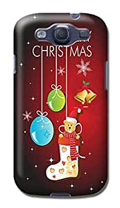 fashionable designed New Style Merry Christmas TPU phone protection case For Samsung Galaxy S3