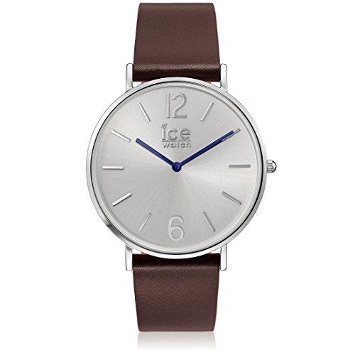 ICE-Watch - CITY Tanner Brown silver - 1533 - Montre Mixte - Quartz Analogique - Cadran Argent - Bracelet Cuir Marron