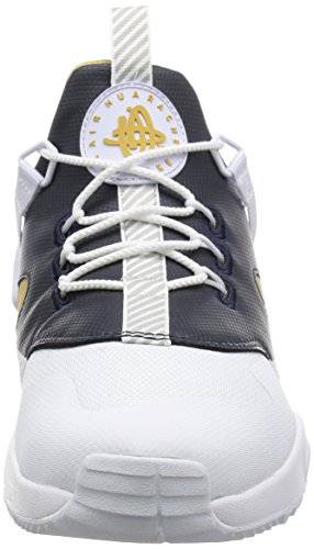 Nike Herren Air Huarache Weiß / Metallic Gold-Dark Obsidian-Weiß