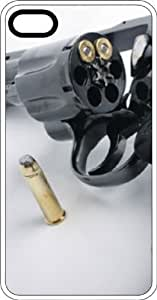 38 Special Revolver With Bullets White Rubber Case for Apple iPhone 6 Plus