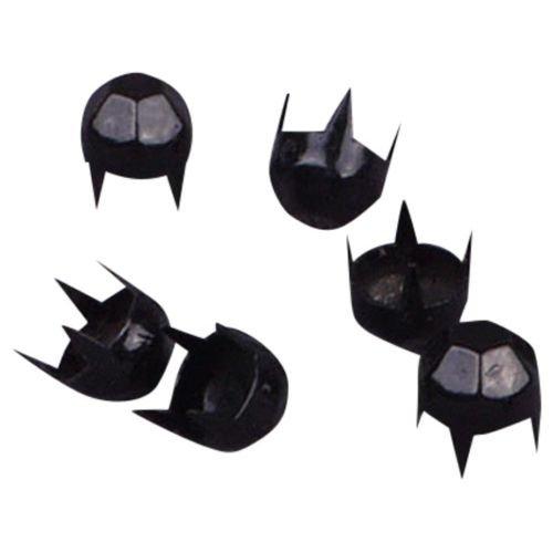 Porcelynne Vintage Black Enamel Metal Round Pyramid Dome Studs/Nailheads - 6mm - 500 - Studs Metal Enamel