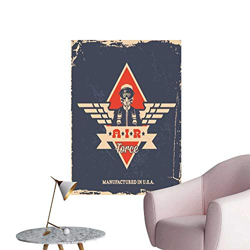 T-shirt Force Adult Air - SeptSonne Modern Decor Vintage air Force Label Pilot t Shirt Print Ideal Kids Decor or Adults,20