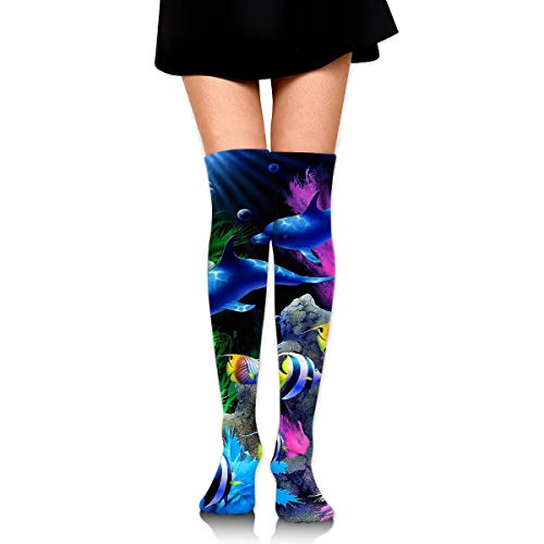 Customized Thigh High Stockings,Ocean-Life Over Knee High Socks-1 Pc