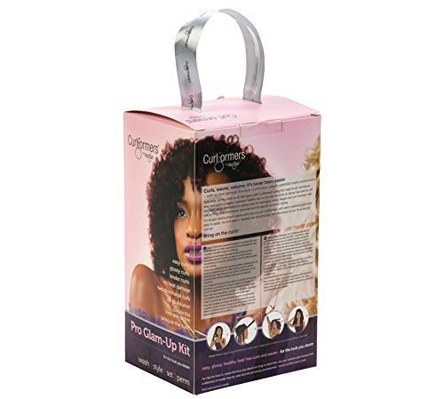 Curlformers Hair Curlers Deluxe Range Spiral Curls Glam up Kit, 20 No Heat Hair Curlers and 1 Styling Hook for medium length hair up to 14'' (35cm) long