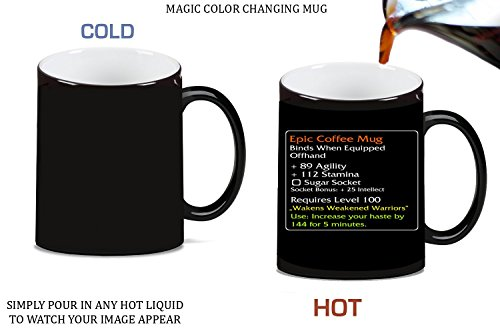 Epic Coffee Mug Design Magic Color Changing Ceramic Coffee Mug Tea Cup by MWCustoms