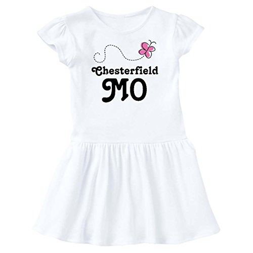 inktastic Chesterfield Missouri Toddler Dress 2T White - Town Chesterfield