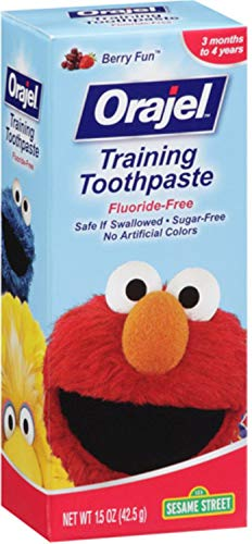 Orajel Toddler Training Toothpaste Fruit Splash 1.50 oz (Pack of 10)