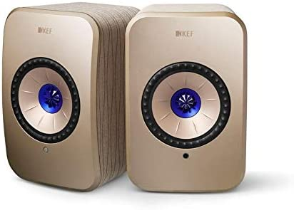 KEF LSX Soundwave Edition, WLAN Lautsprecher, Gold, Aktivlautsprecher | Airplay 2 | Musikstreaming | Multiroom | Bluetooth | Spotify | Tidal | Roon | Design by Terence Conran