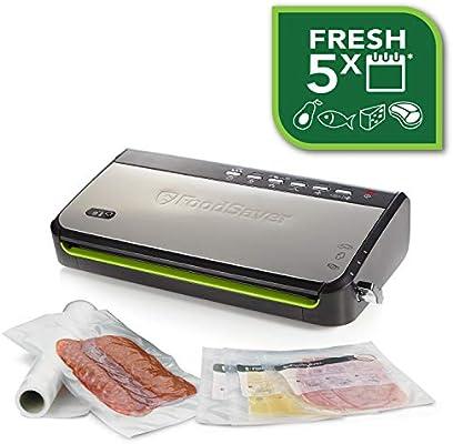 Foodsaver FFS005X-01 Envasadora al vacío, 140 W, Acero Inoxidable, Plata y negro
