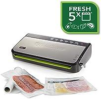 FoodSaver Machine sous Vide avec Compartiment de Rangement pour Rouleau et Cutter, Fonction Pulse pour Aliments...