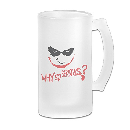 [Kamici Why So Joker Frosted Beer Mug Beer Freezer Mug] (Cyberchase Costumes)