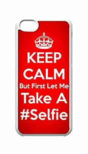 Custom iPhone 5C Case , But First Let Me Take A Selfie Hard Plastic Protective Cases Cover by Foreverway --1691