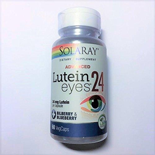 【海外直送品】SOLARAY - Lutein Eyes Advanced 24mg (60cap) ルテインアイアドバンス B01MQ1Y5CL