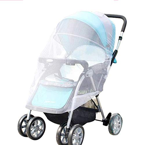 Mosquito Net, V-FYee Bug Net for Baby Strollers Infant Carriers Car Seats Cradles (White)