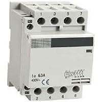 63 Amp 4 Pole NO Contactor 30 Amp AC-3, 63A AC-1, Coil 120VAC DIN rail mount IEC