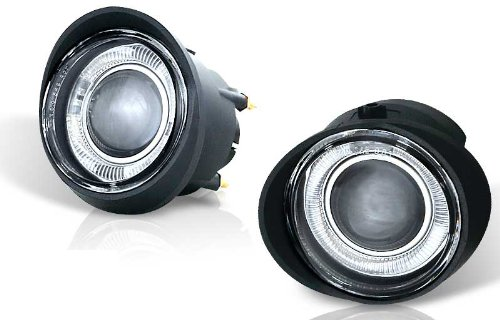 For 02-04 Nissan Altima 03-05 FX35/45 Clear Halo Projector Fog Light Pair Set