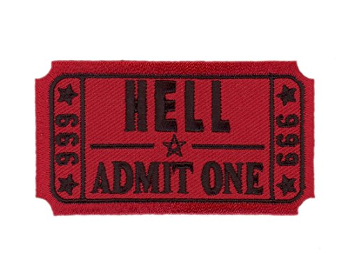 Hook Red Ticket to Hell Funny Pentagram Morale Tactical Gear