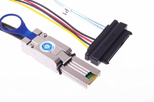 SMAKN® External MINI SAS 26P 8088 To 4X SAS 29P SFF8482 With Power Fanout 2M Cable by SMAKN (Image #5)