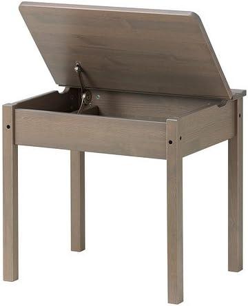 Ikea SUNDVIK - Niños-s Escritorio, Gris-marrón - 58x45 cm: Amazon ...