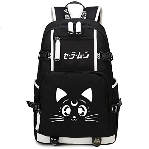 YOYOSHome Sailor Moon Anime Luna Cosplay College Bag Daypack Bookbag Backpack School Bag