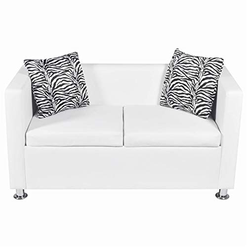 Sofa Artificial Leather for Apartment Living Room Furniture by BLUECC (2-Seater)