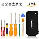 E.Durable Gamebit Set, 3.8mm and 4.5mm Security Screwdriver Game Bit Set for Nintendo Switch 3DS N64 Console Wii U Sega Master Genesis 32x, Game Cube Console,etc