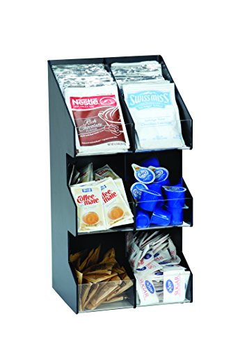 Six Section Countertop Vertical Lid/Condiment Organizer (Polystyrene Countertop)