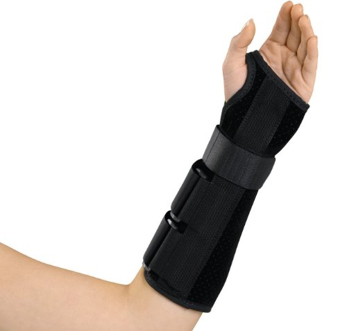 Medline Wrist and Forearm Splint, Left, Medium