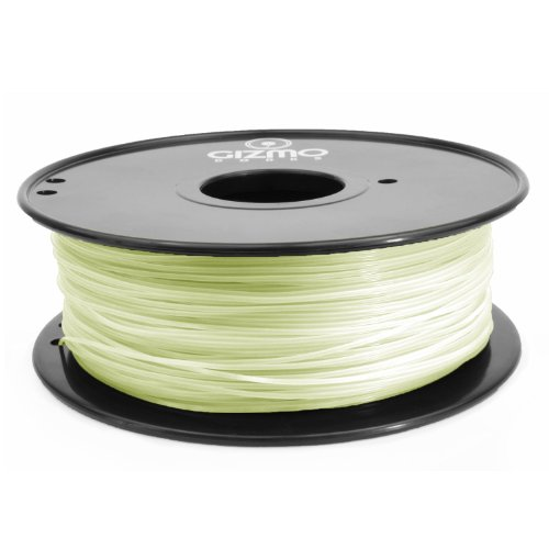 Gizmo Dorks 3mm (2.85mm) PLA Filament 1kg / 2.2lb for 3D Printers, Glow in the dark