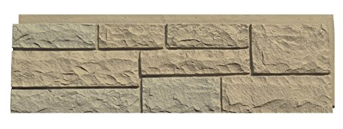 NextStone 6NPTB1 Random Rock Indoor/Outdoor Siding Panel 4-Pack, Tri-Buff