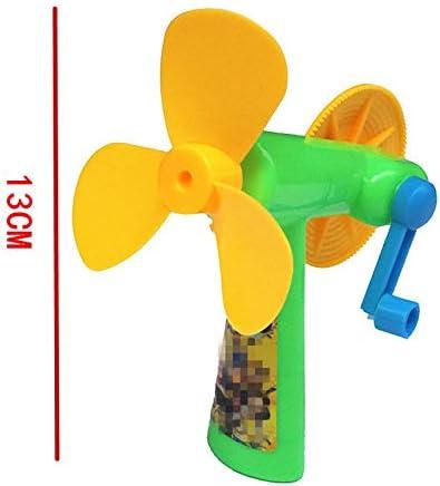 Ventilador de presión manual Juguete infantil Ventilador de mano Ventilador portátil giratorio de mano portátil: Amazon.es: Amazon.es