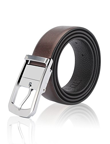 Demon&Hunter Men's Smooth Leather Designer Belt S19802(110CM)